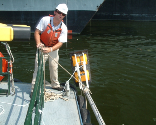 Philadelphia onderwateropname Marinehaven tot 15 m - wateroppervlak